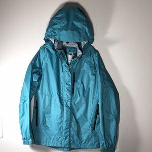 97fe5e4a5a04b0 REI Kids Windbreaker Rain coat Jacket Teal M 10 12